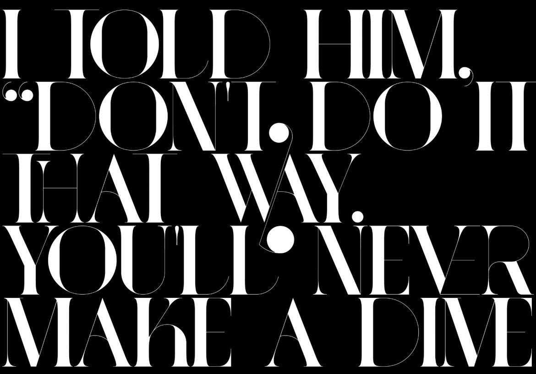 port vintage font specimen