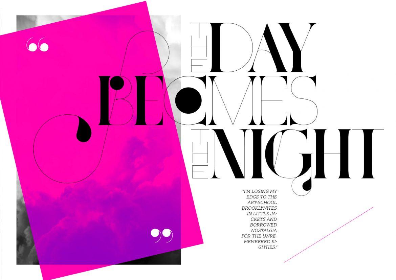 port vintage font magazine editorial